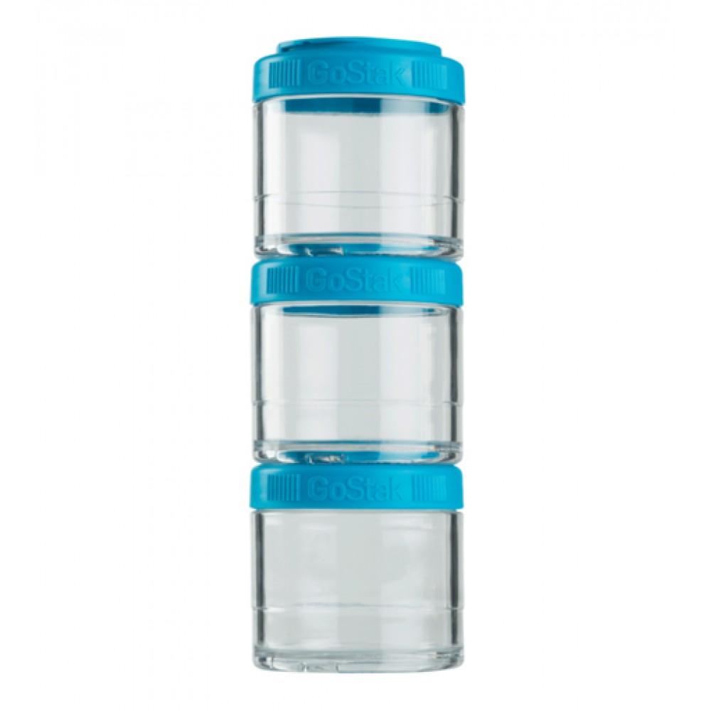 Контейнеры GoStak 3 Pak Blender Bottle аква (3 x 100 мл)