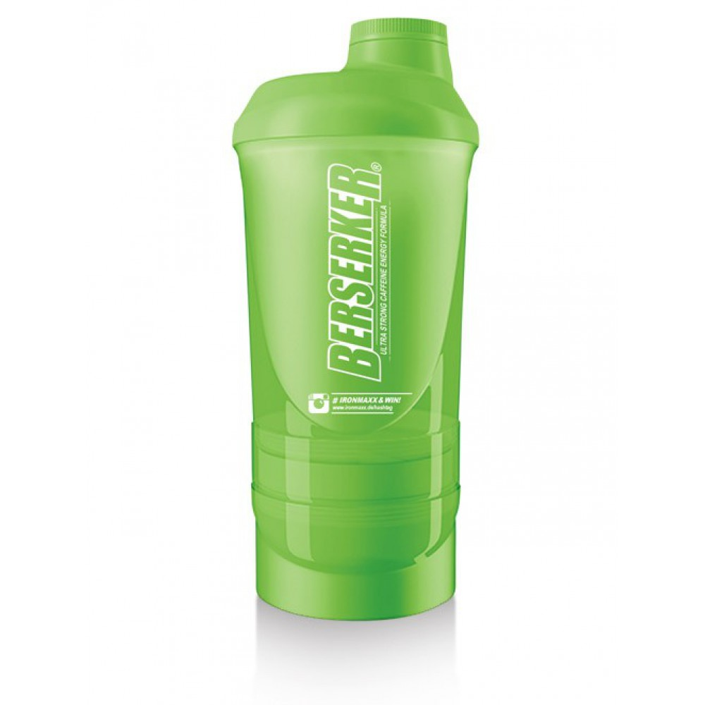 Super Shaker with Compartments Grasgreen IronMaxx (600 мл)