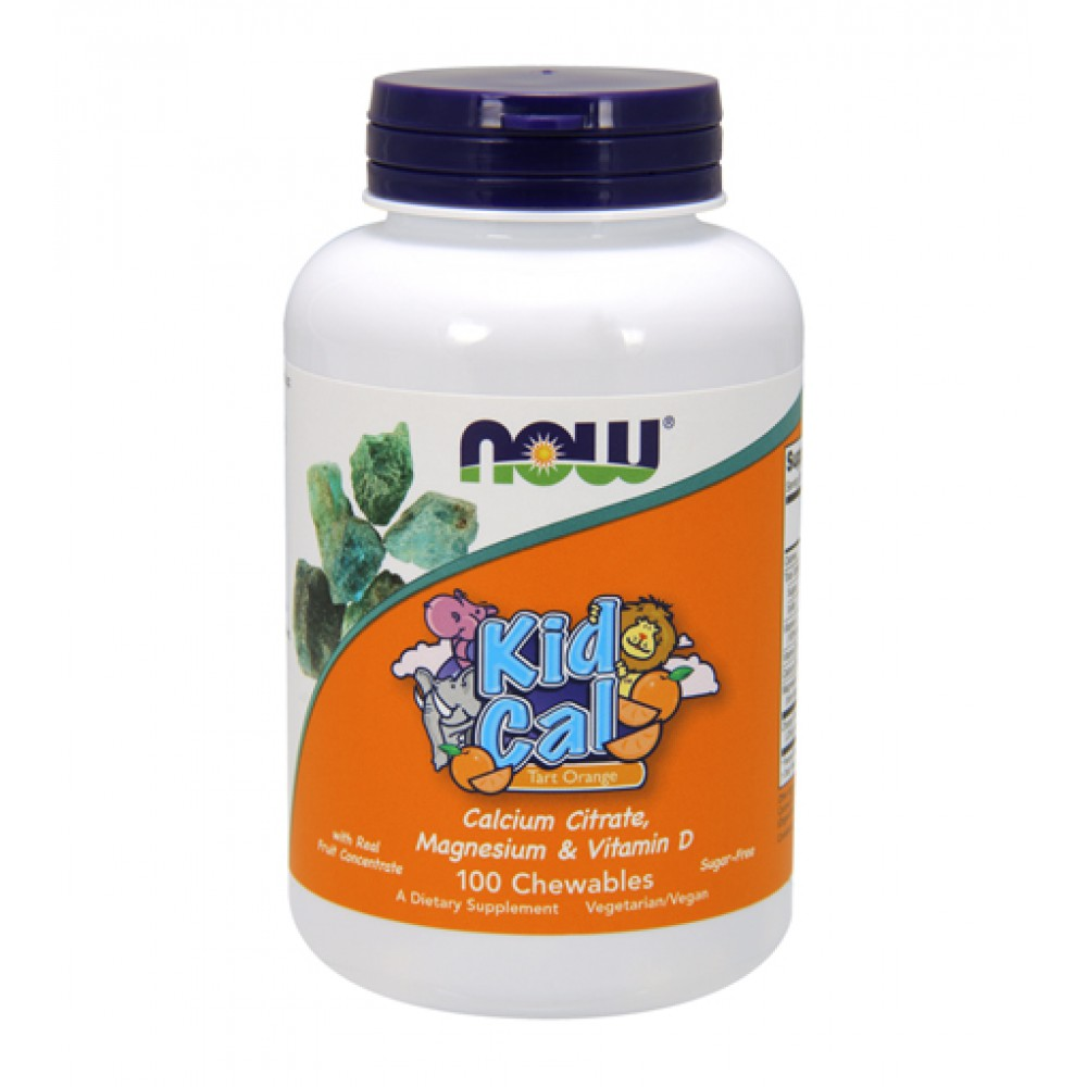 Kid Cal Calcium Citrate NOW (100 жев. табл)