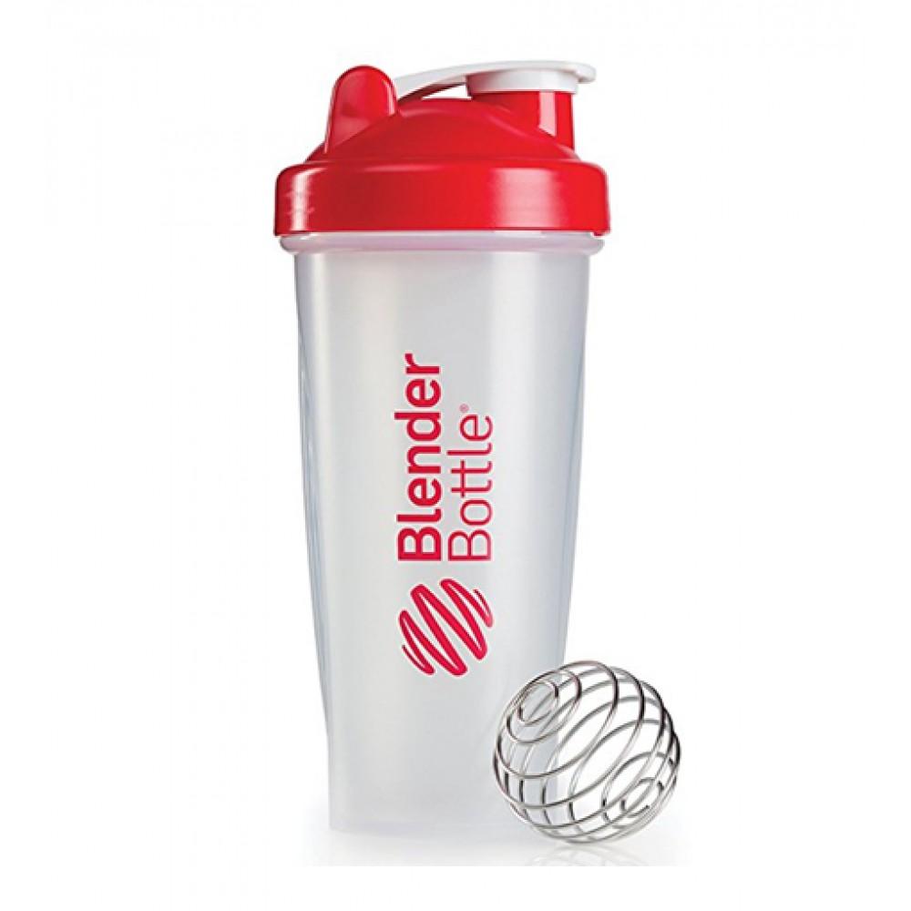 Шейкер Classic Blender Bottle прозрачный-красный (820 мл)