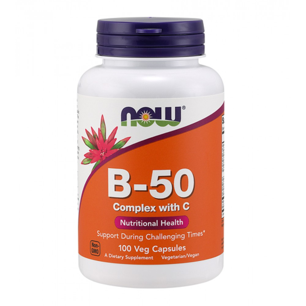 Vitamin B-50 Complex with C NOW (100 капс)