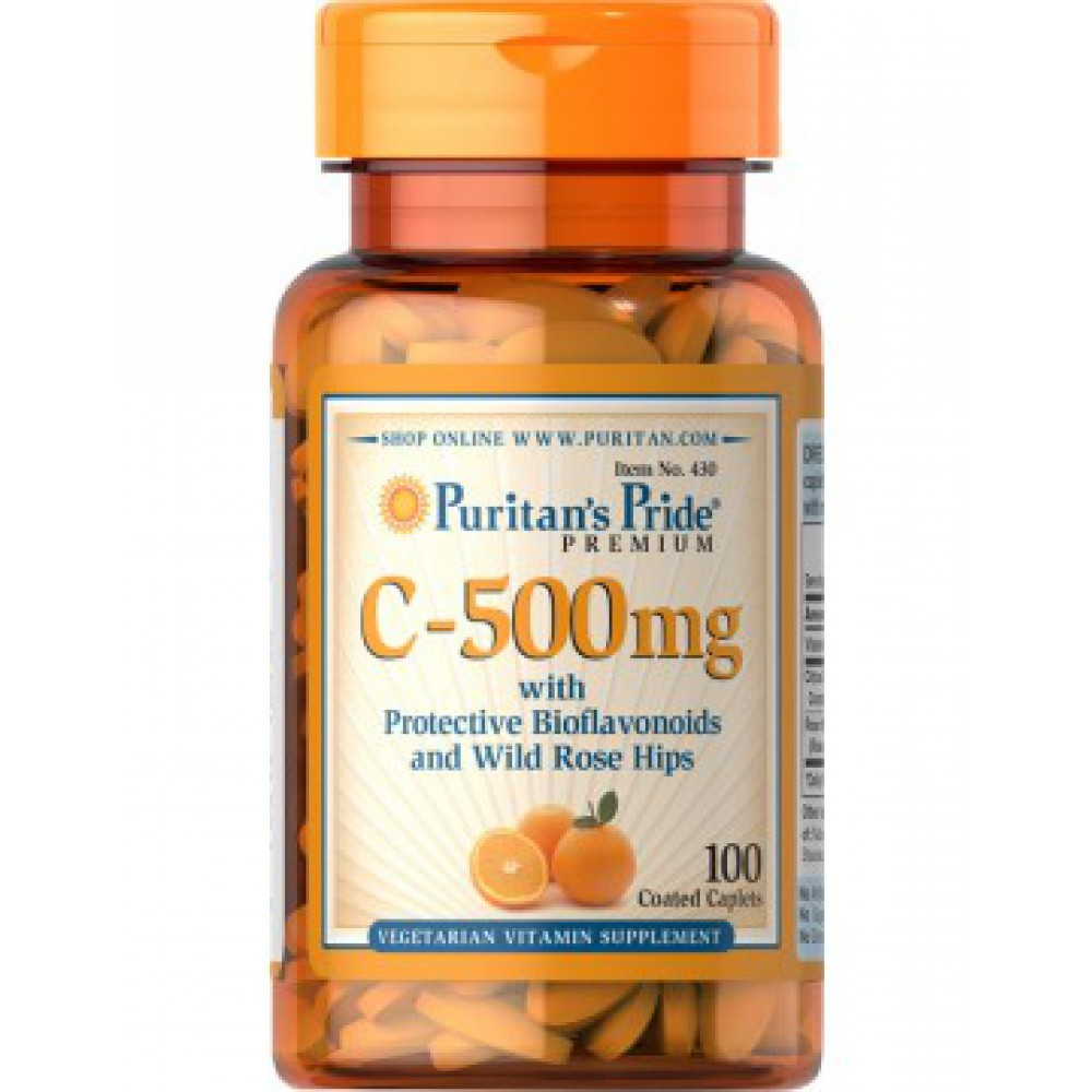 Vitamin C-500 mg with Rose Hips Time Release 100caplets