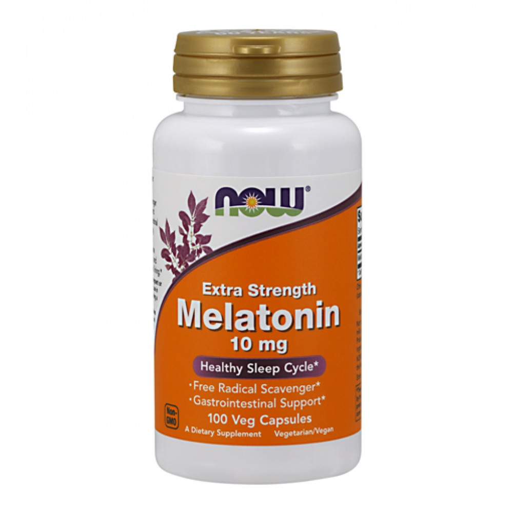 Melatonin 10 mg Extra Strength NOW (100 капс)