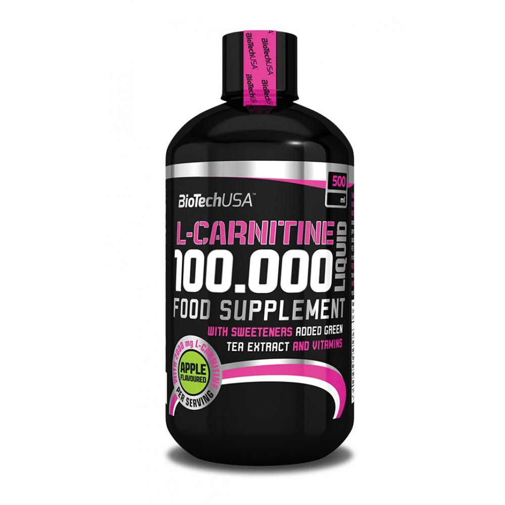 L-карнитин L-Carnitine 100.000 Liquid BioTech USA (500 мл)