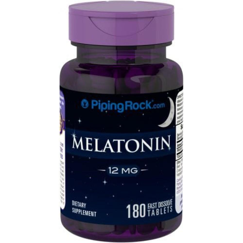 Melatonin 12 mg Piping Rock (180 табл)