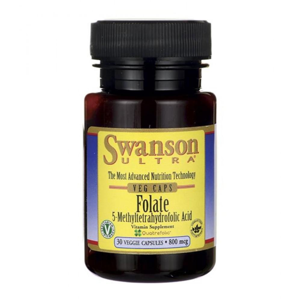 Folate (5-Methyltetrahydrofolic Acid) Swanson (30 капс)