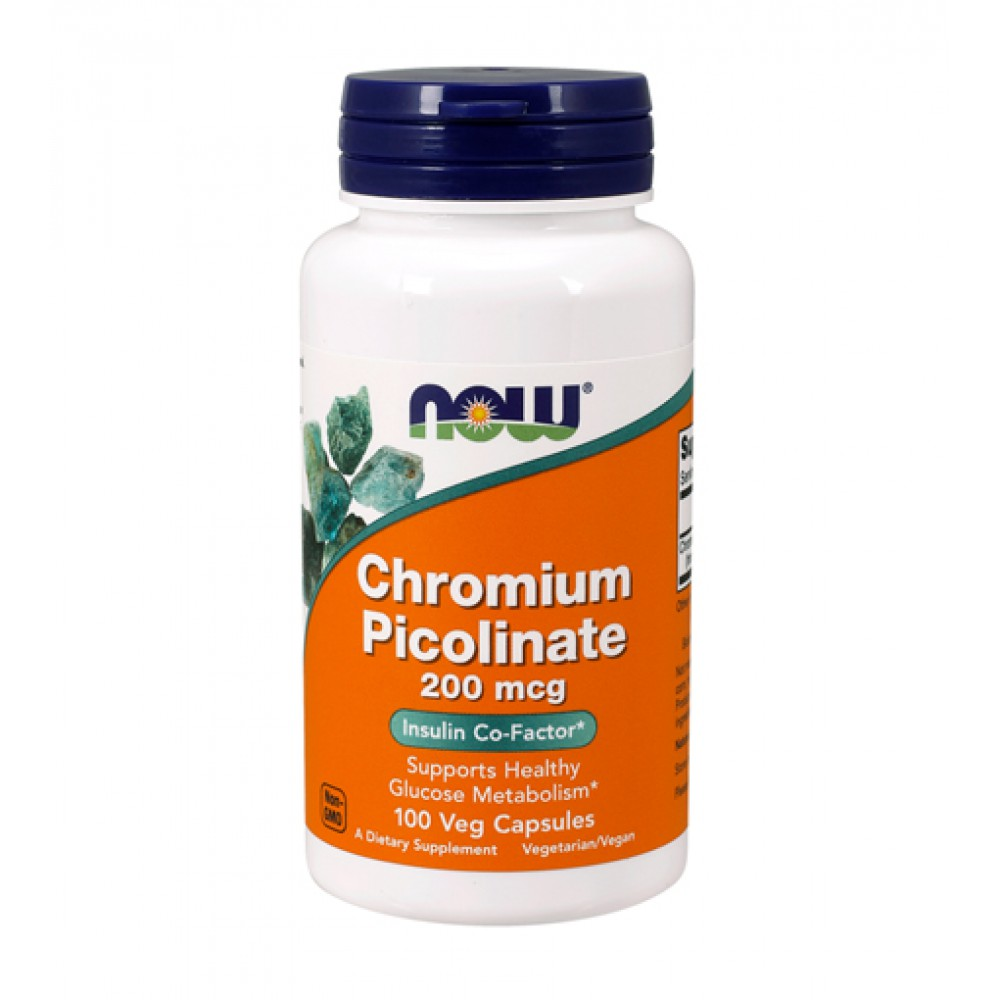 Chromium Picolinate 200 mcg NOW (100 капс)