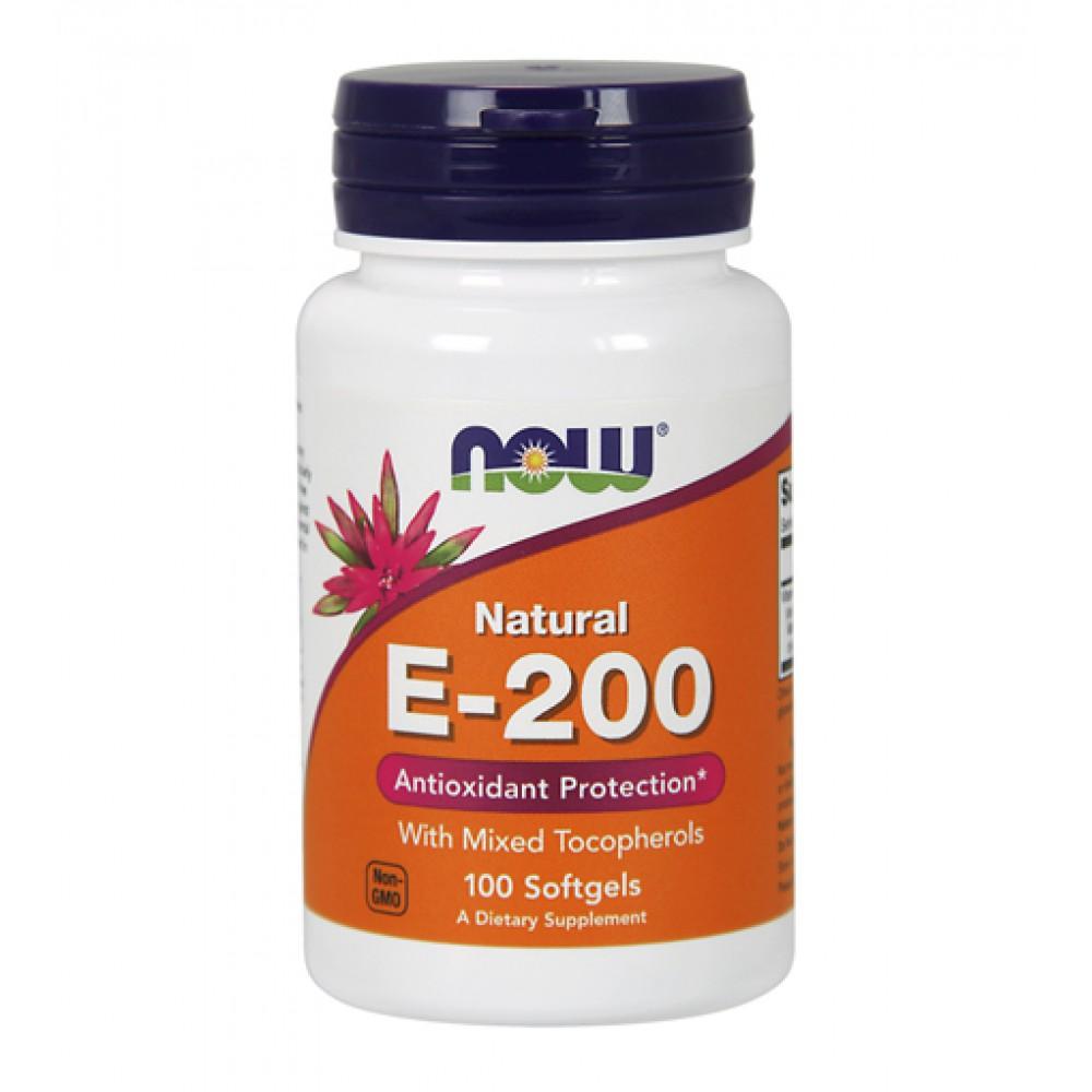 E-200 Mixed Tocopherols NOW (100 капс)