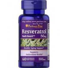 Resveratrol 50 mg 60 Capsules