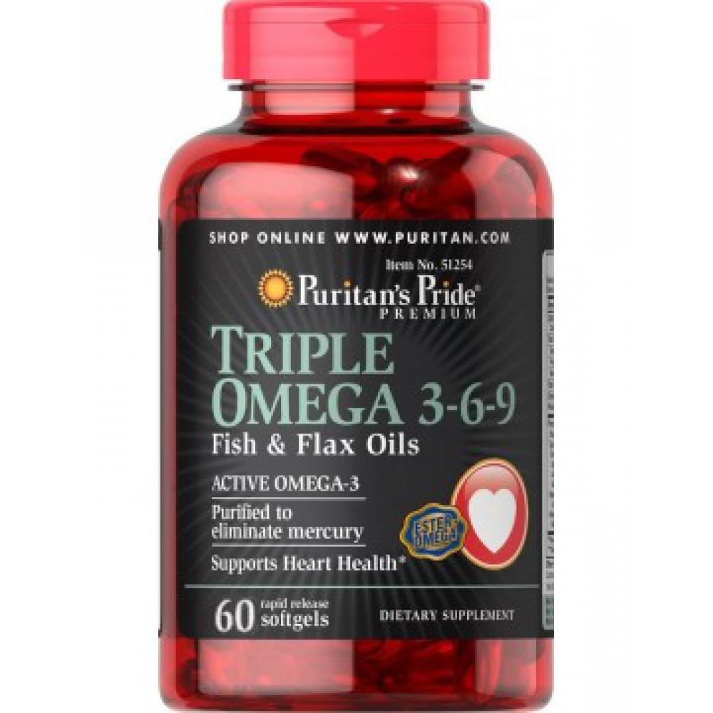Triple Omega 3-6-9 60 Softgels
