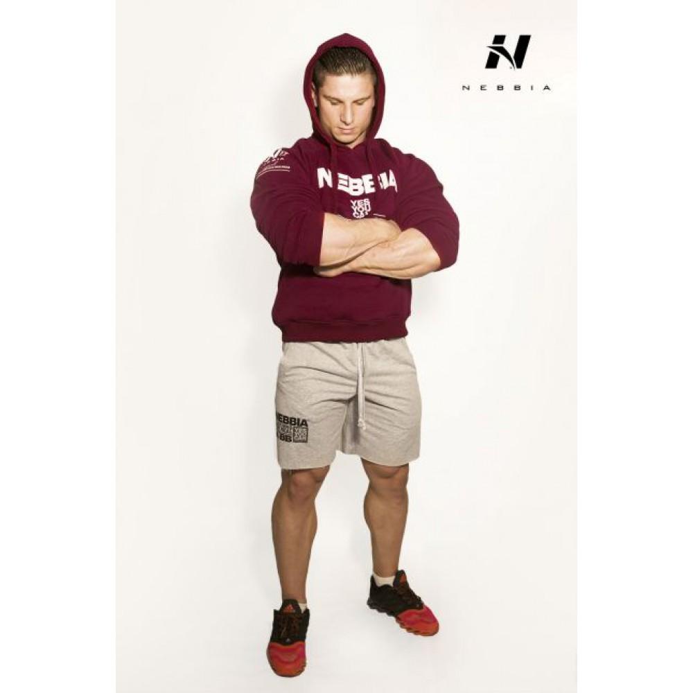 Толстовка с капюшоном Bodybuilding 991 Bordeaux