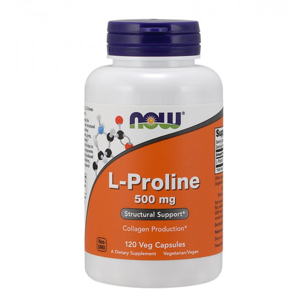 L-Proline 500 mg NOW (120 капс)
