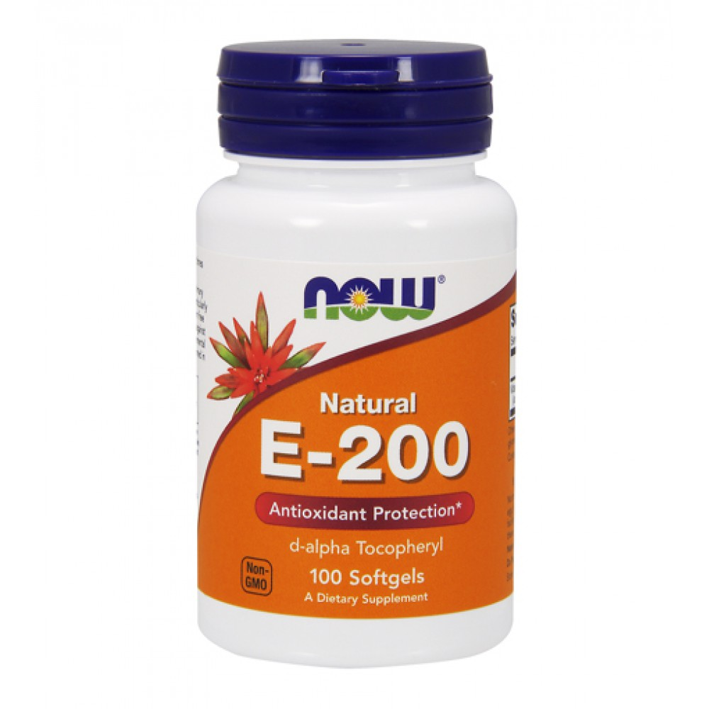 Natural E-200 IU d-alpha NOW (100 капс)