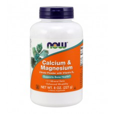 Calcium & Magnesium Powder NOW (227 гр)