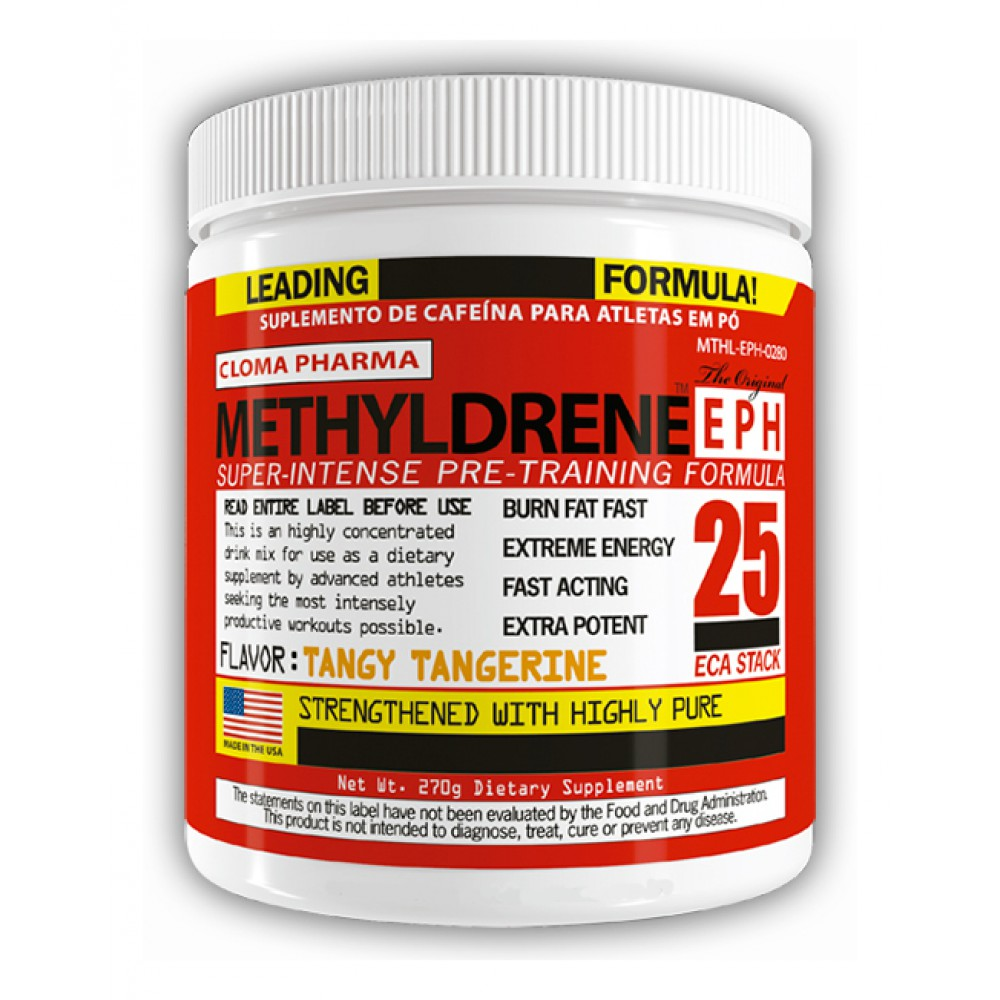 Предтренировочный комплекс Methyldrene EPH 25 Epherdra Cloma Pharma (270 г)