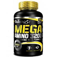 Аминокислоты Mega Amino 3200 BioTech USA (100 табл.)