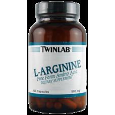L-ARGININE 500 Twinlab (100 капс.)