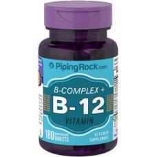 B Complex Plus Vitamin B-12 Piping Rock (180 табл)