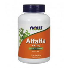 Alfalfa 650 mg NOW (250 табл)