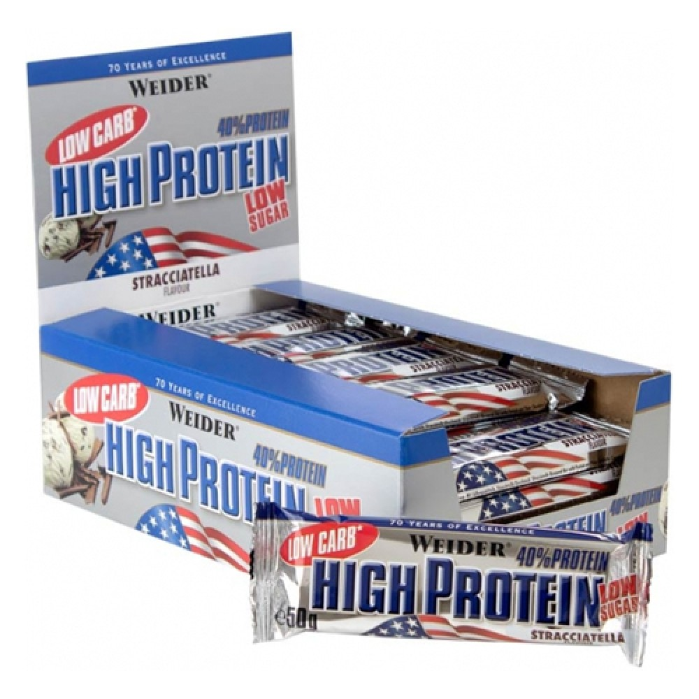 Low Carb High Protein bar Weider (24 шт х 50 гр)