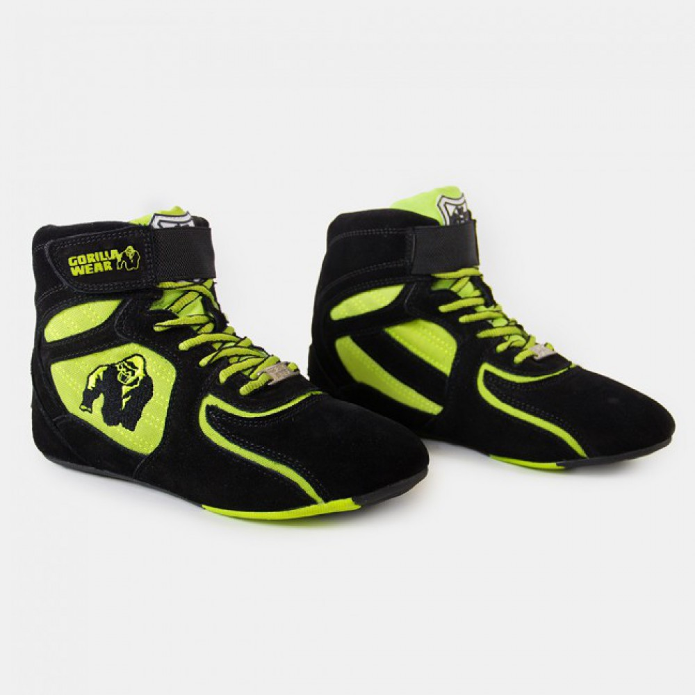 Кроссовки женские Chicago High Tops Black/Neon Lime