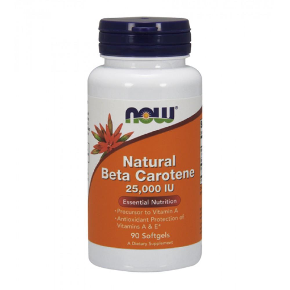 Natural Beta Carotene 25000 NOW (90 капс)