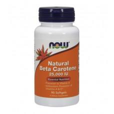 Natural Beta Carotene 25000 iu NOW (90 капс)