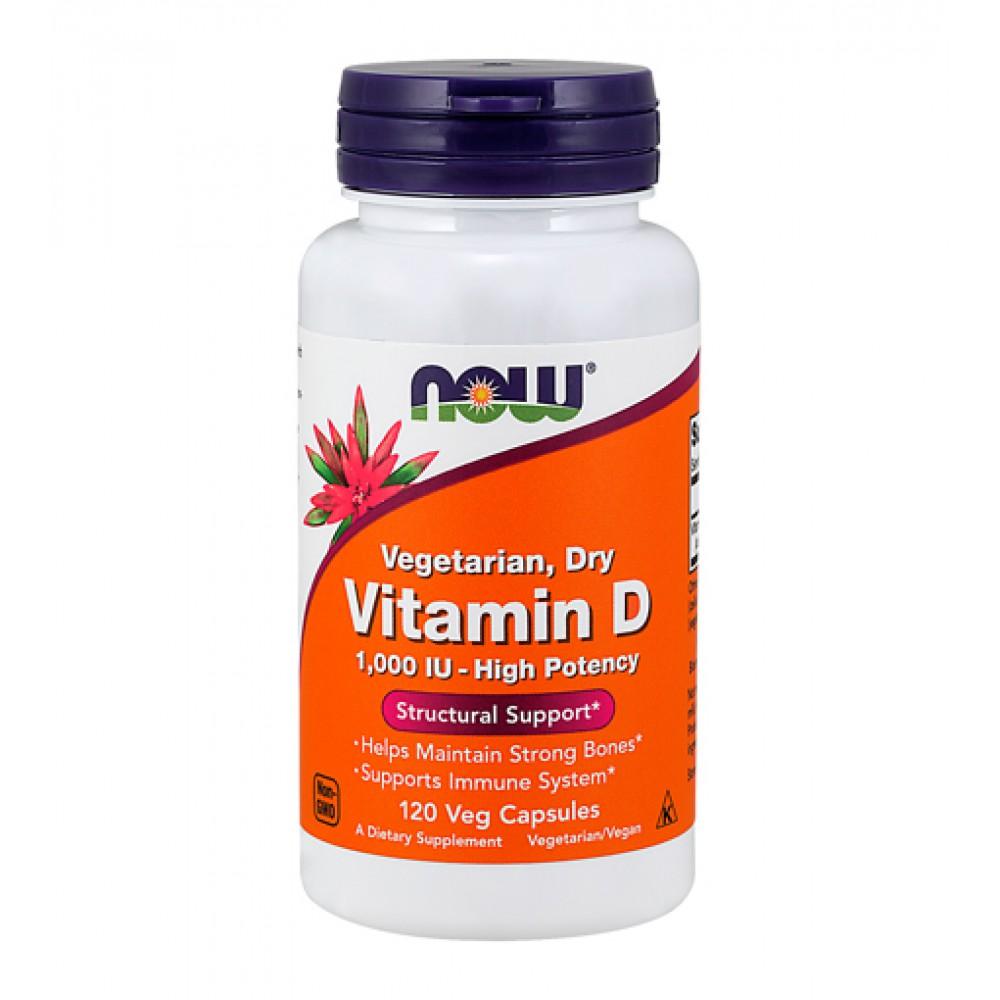 Vitamin D 1000 IU NOW (120 капс)