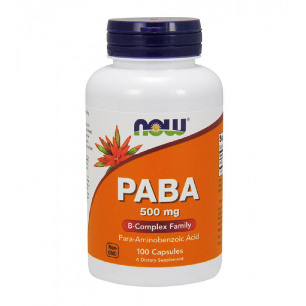 PABA 500 mg NOW (100 капс)