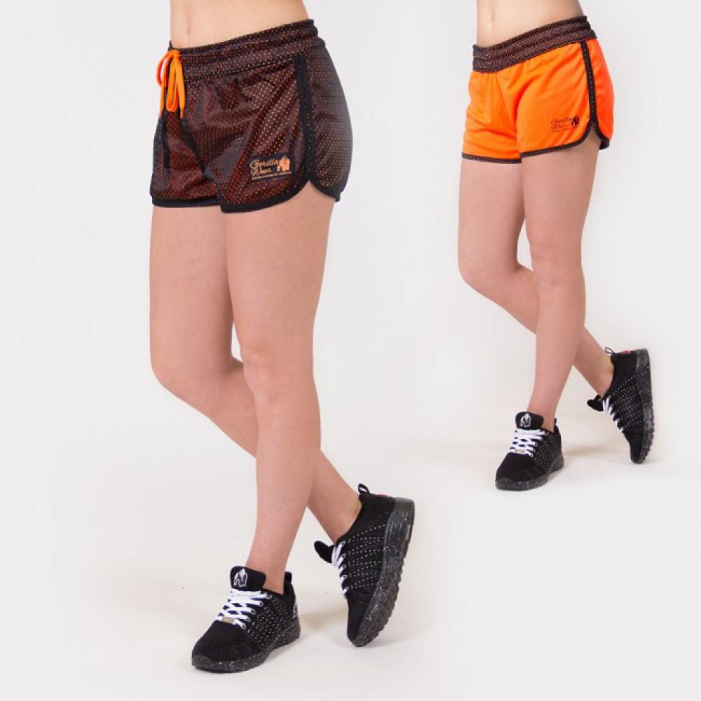 Шорты Madison Reversible Black Neon Orange