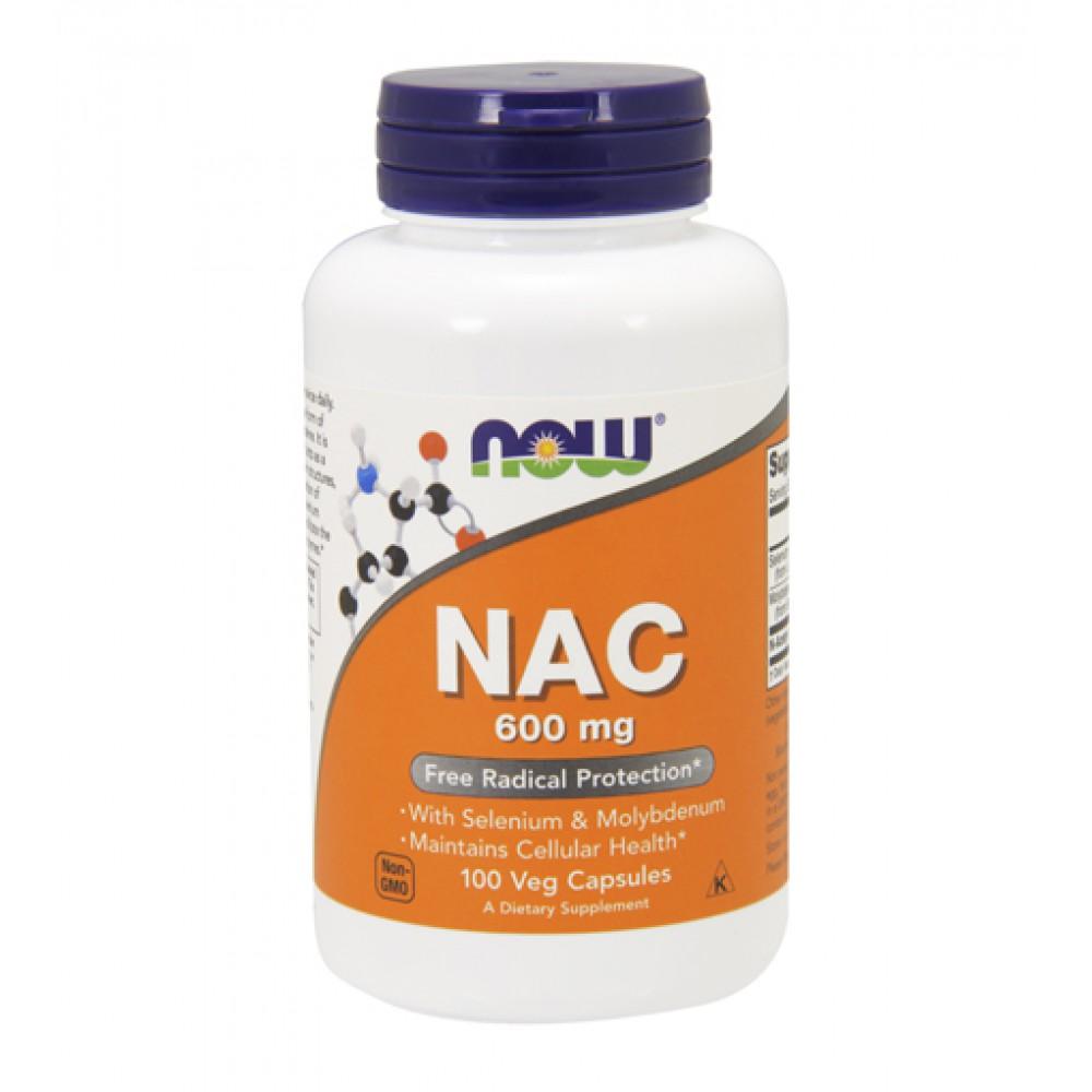 NAC 600 mg NOW (100 капс)