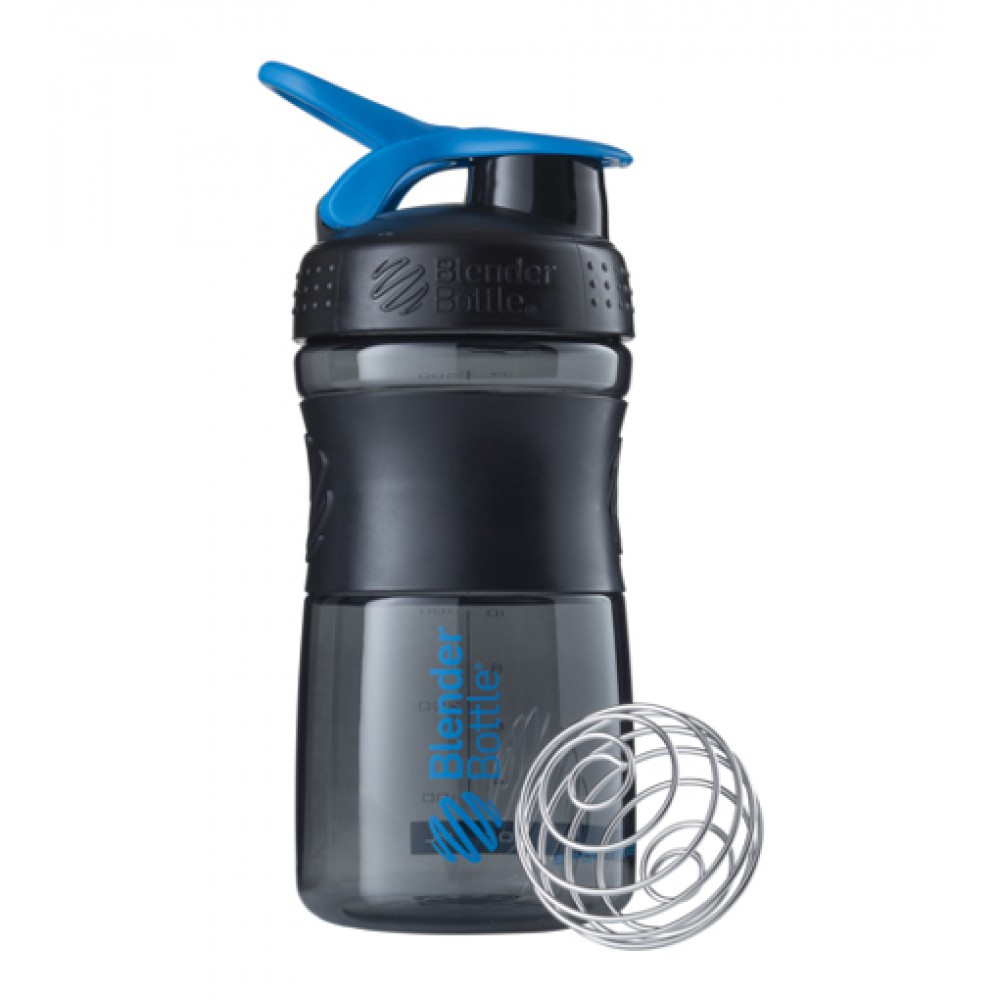 Бутылка Sportmixer Blender Bottle черно-синяя (600 мл)