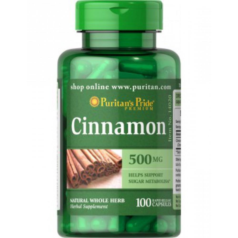 Cinnamon 500 mg, 100 caps