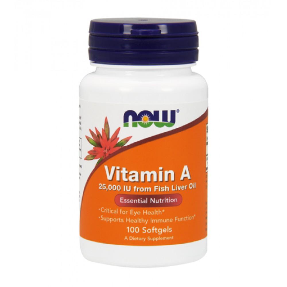 Vitamin A 25000 IU NOW (100 капс)