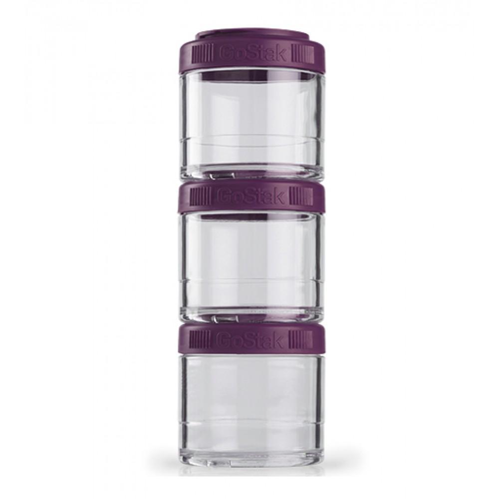 Контейнеры GoStak 3 Pak Blender Bottle фиолетовые (3 x 100 мл)