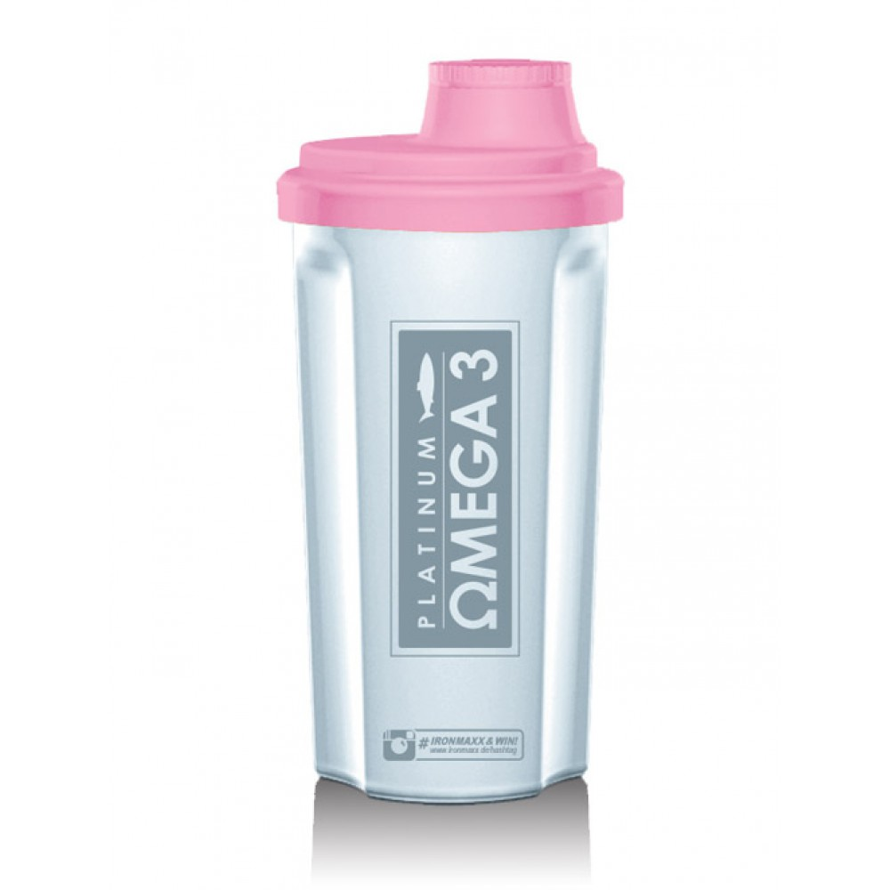 Shaker with Sieve Frozen White/Rose IronMaxx (700 мл)