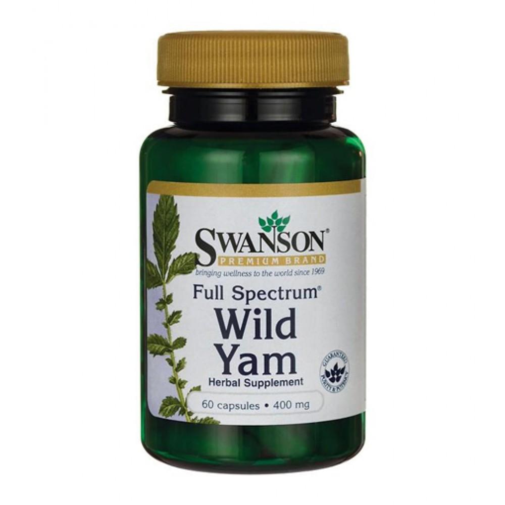 Full Spectrum Wild Yam Root 400 mg Swanson (60 капс)
