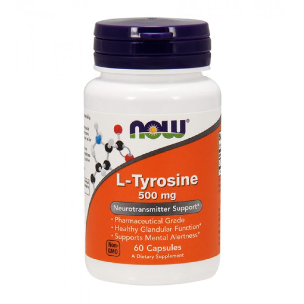 L-Tyrosine 500 mg NOW (60 капс)
