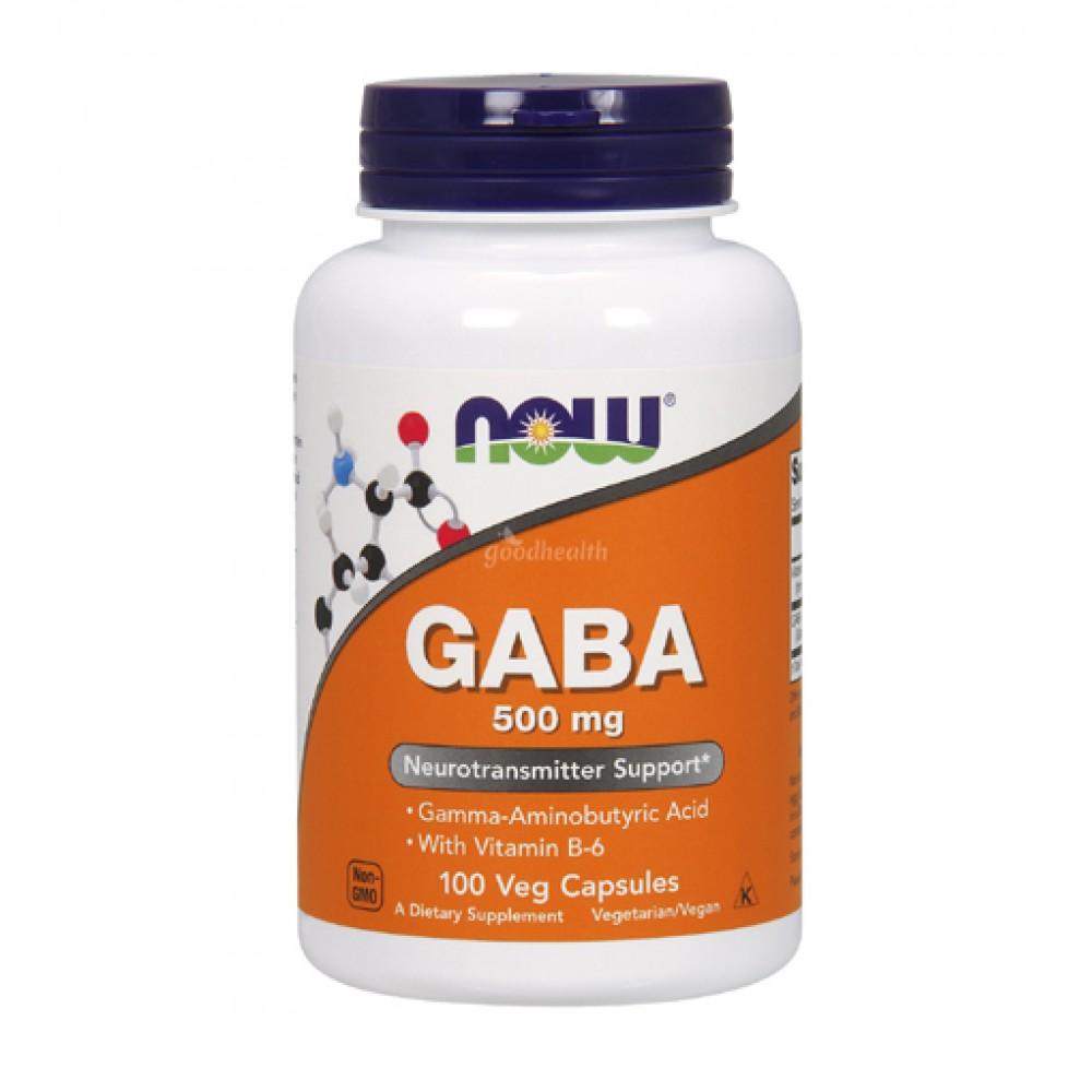 GABA 500mg NOW (100 капс)