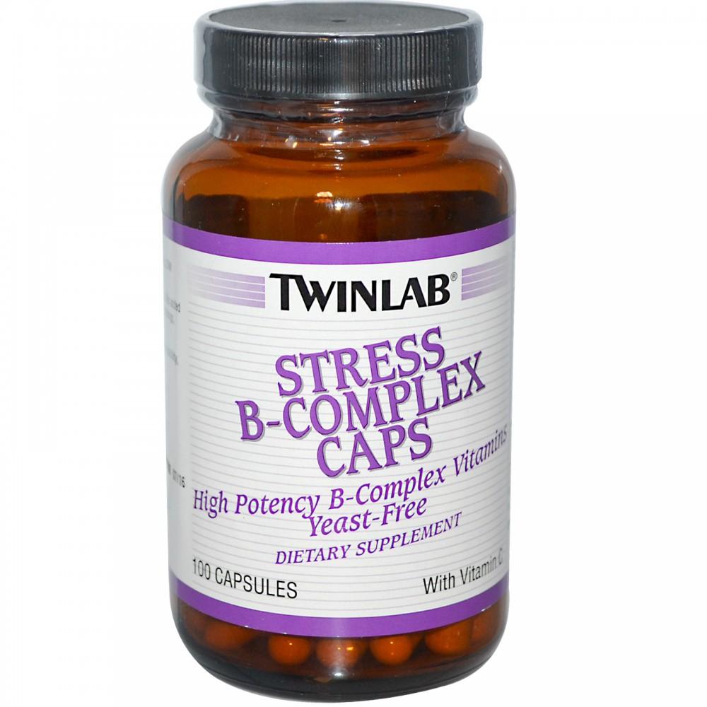 Витамины Stress B-complex Caps Twinlab 100 капс