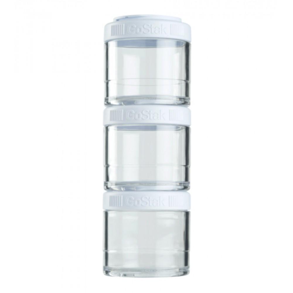 Контейнеры GoStak 3 Pak Blender Bottle белые (3 x 100 мл)