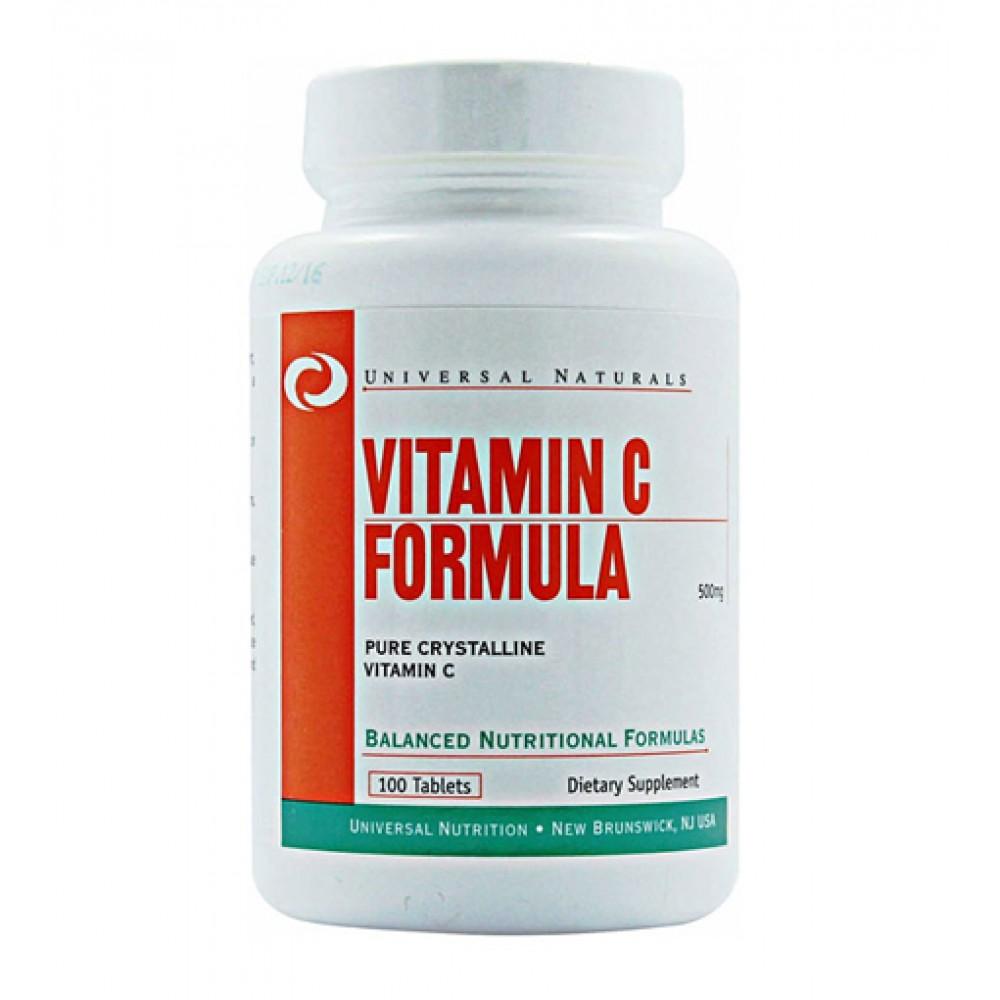 Vitamin C Formula 500 Mg Universal Nutrition (100 табл)