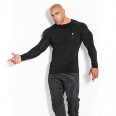 Longsleeve Man's Compression Black Kevin Levrone