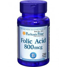 Folic Acid  800 mcg 250 tabl