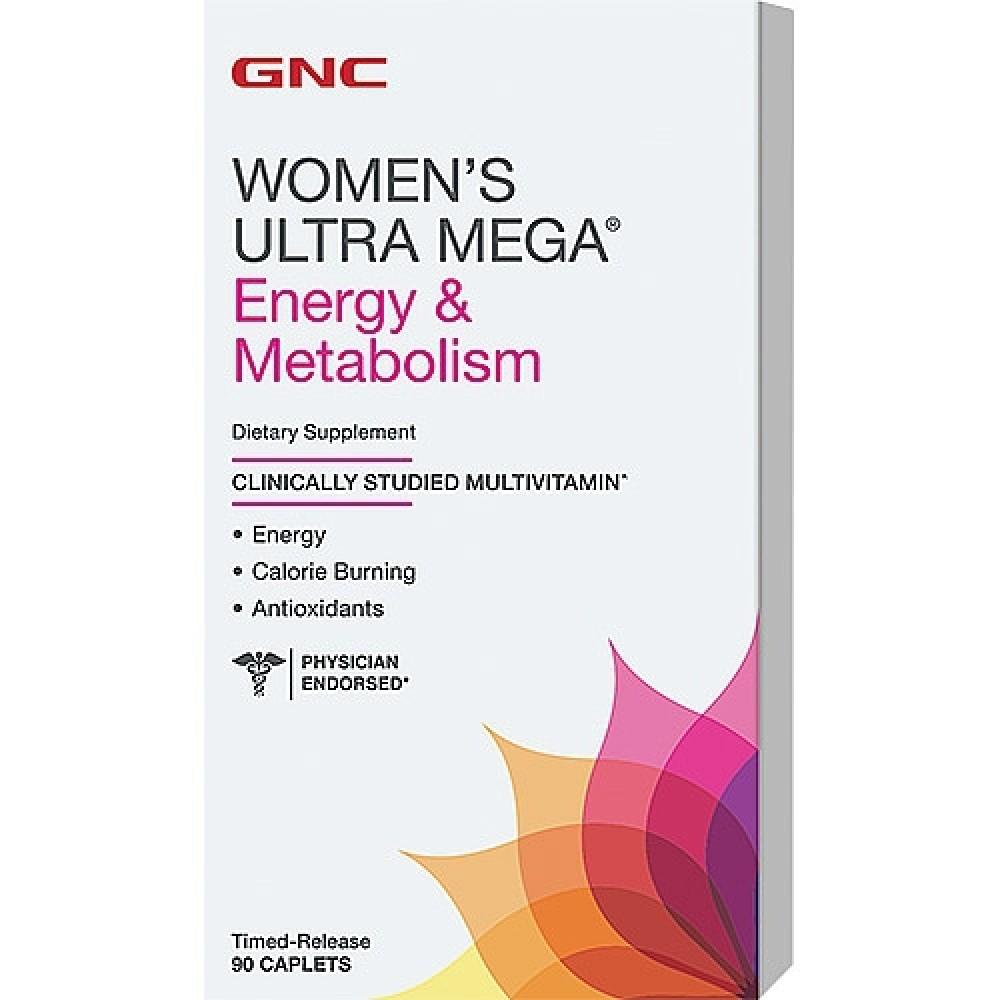 Womens Ultra Mega Energy Metabolism Gnc (90 капс)