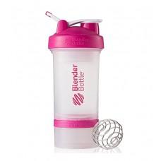 Шейкер ProStak Blender Bottle прозрачный-розовый (650 мл)