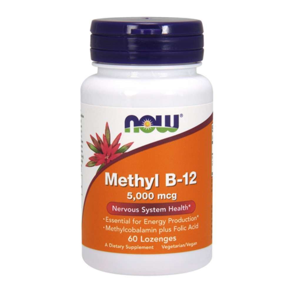 Methyl B-12 5000 mcg NOW (60 леденцов)