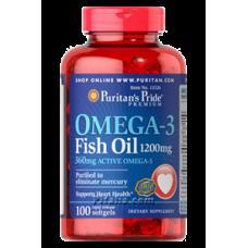 Omega-3 Fish Oil 1200 mg Puritans Pride (100 капс.)